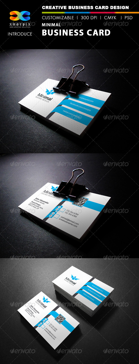 GraphicRiver Minimal Business Card 7986116