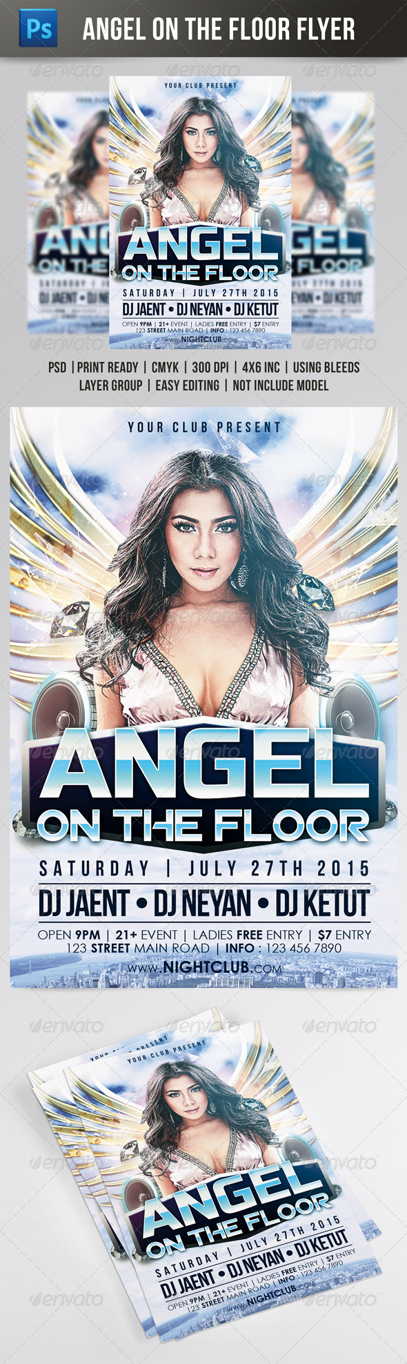 GraphicRiver Angel On The Floor Flyer 7986166