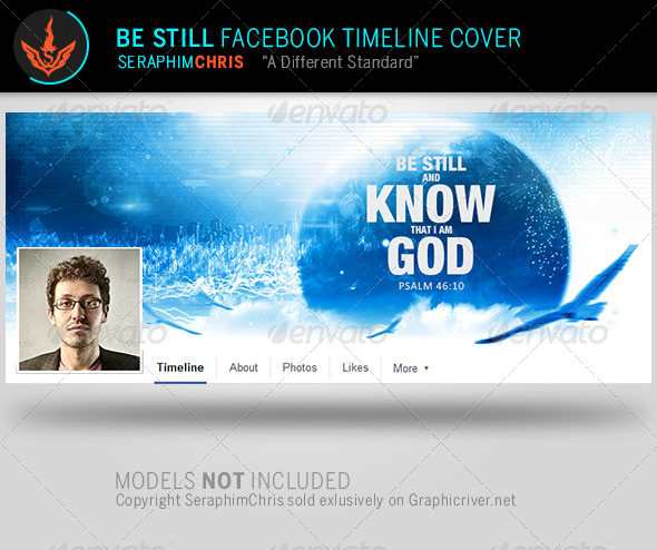 GraphicRiver Be Still Church Facebook Timeline Template 7986294