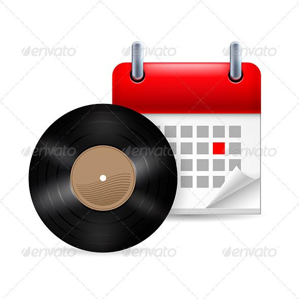 Vinyl Disk with Calendar