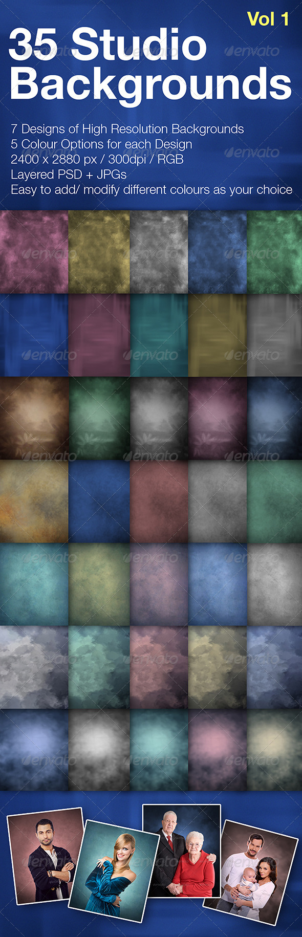 GraphicRiver 35 Studio Backgrounds 7986446