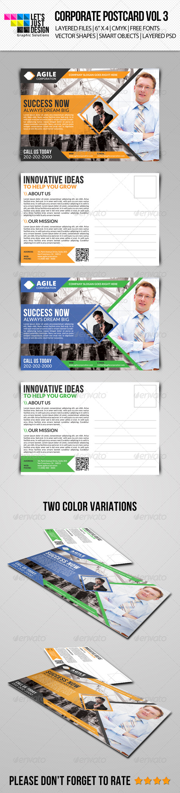 GraphicRiver Corporate Postcard Template Vol 3 7986481