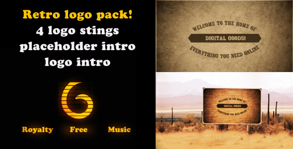 Retro Logo intro pack