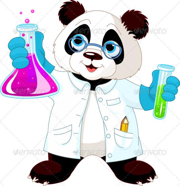 GraphicRiver Panda Scientist 7986733
