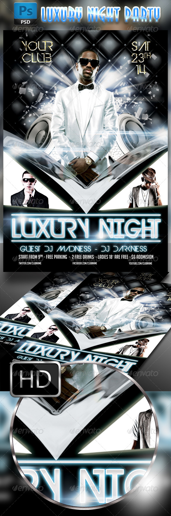 GraphicRiver Luxury Night Party Flyer 7986734