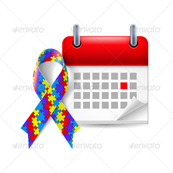 GraphicRiver Awareness Ribbon and Calendar 7986766
