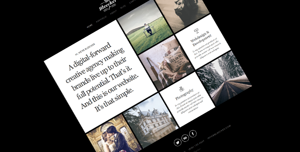 ThemeForest Bleecker Responsive Retina-Ready HTML5 Portfolio 7986783