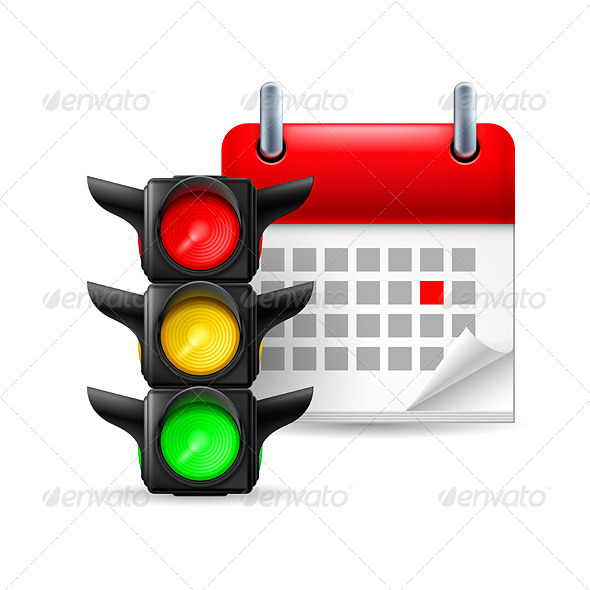 GraphicRiver Traffic Lights with Calendar 7986830