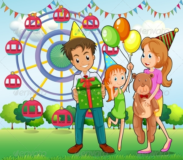 GraphicRiver Family at Carnival 7986848