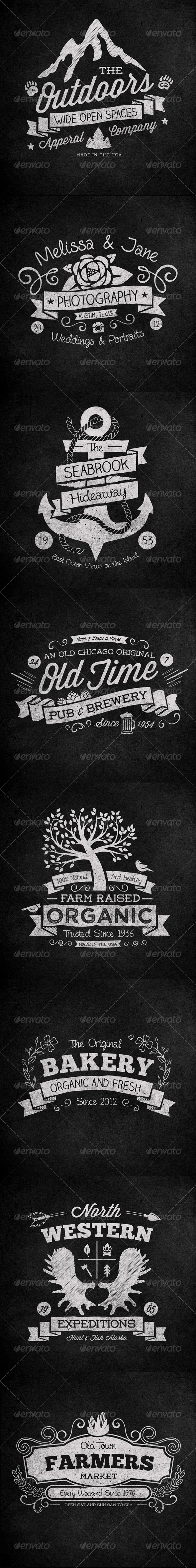 GraphicRiver Hand Drawn Vintage Labels Vol 1 PSD 7986880