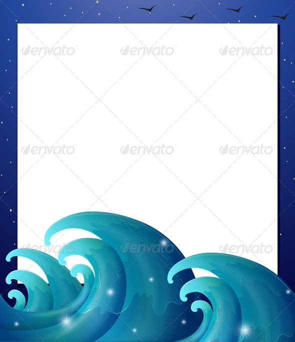 Empty Paper Template with Waves