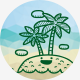Summer Travel Doodle Icons - GraphicRiver Item for Sale