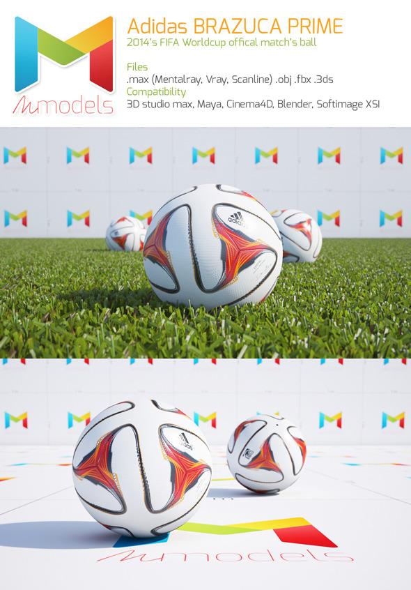 3DOcean Adidas BRAZUCA PRIME 7987157