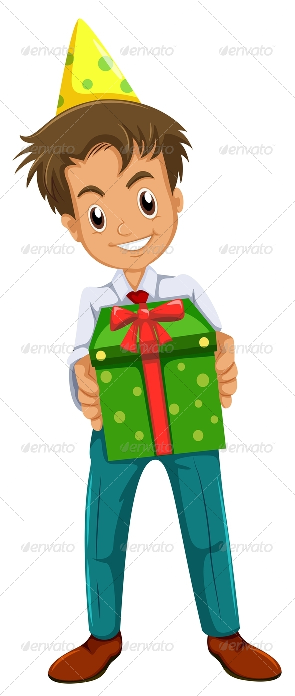 GraphicRiver Boy holding Gifts 7987181