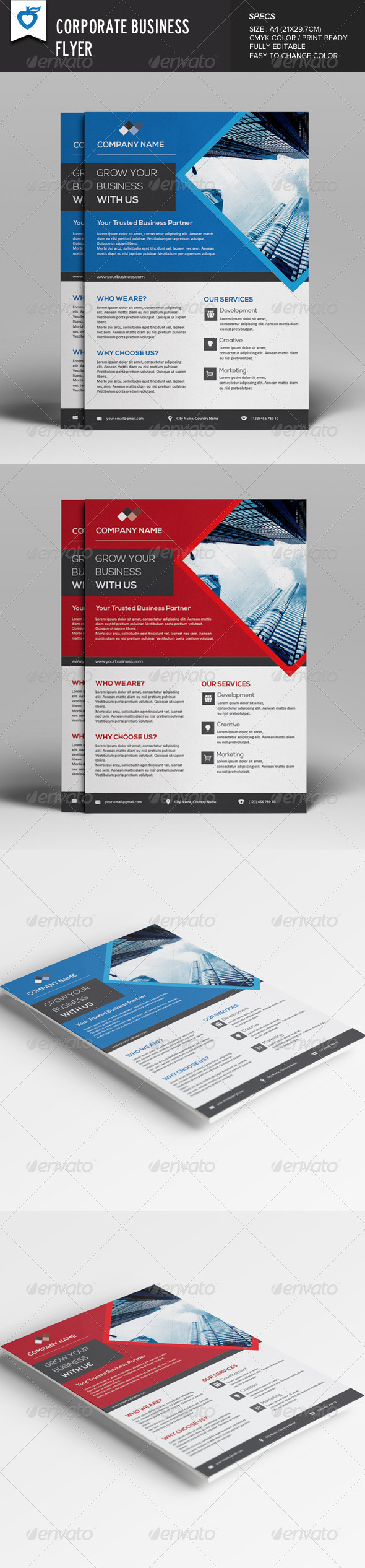 GraphicRiver Corporate Business Flyer v8 7987318