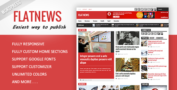Flat News – Responsive Magazine WordPress Theme - News / Editorial Blog / Magazine
