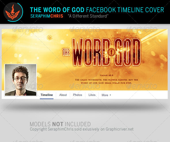 GraphicRiver The Word of God Church Facebook Timeline Template 7987341