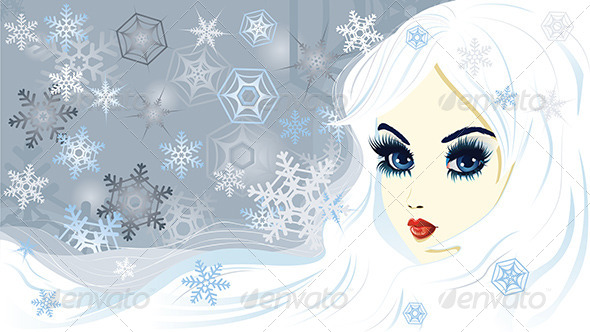 GraphicRiver Snow Queen 7987350