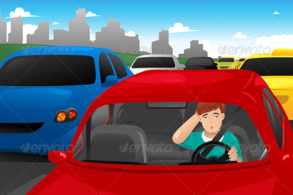 GraphicRiver Stuck in Traffic 7987391