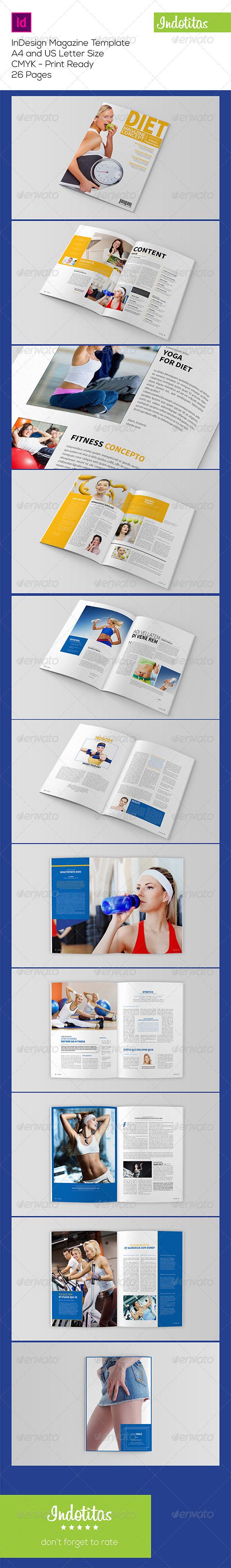 GraphicRiver Healthy Magazine Template 7987515