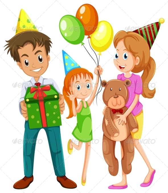 GraphicRiver Family at Birthday 7987518