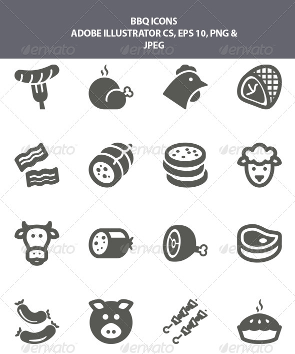 GraphicRiver BBQ Icons 7987519