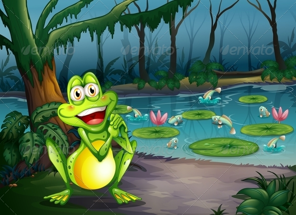GraphicRiver Frog near Pond 7987547