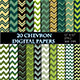 Green Chevron Digital Paper Scrapbooking Paper - GraphicRiver Item for Sale