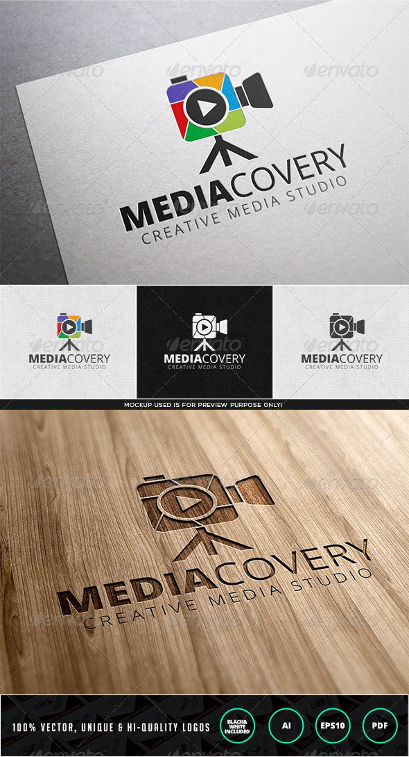 Mediacovery Logo Template - Objects Logo Templates