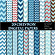 Blue Chevron Digital Paper Scrapbooking Paper - GraphicRiver Item for Sale