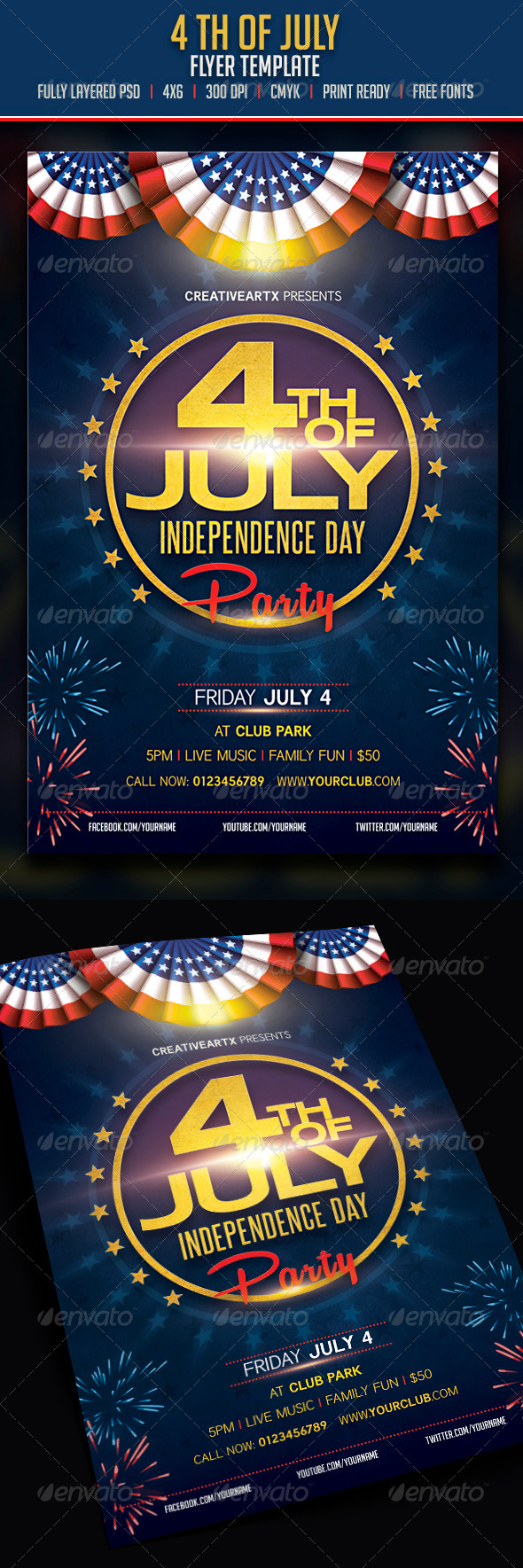 4th of July - Flyers Print Templates