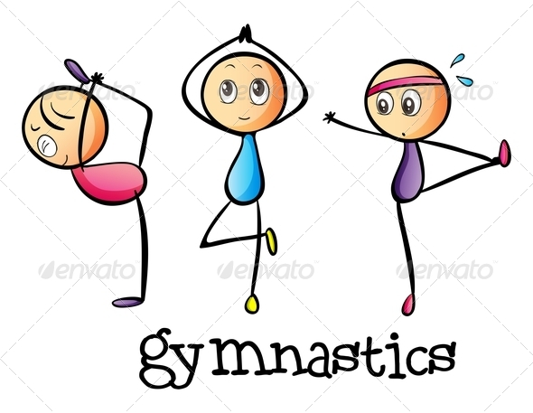 GraphicRiver Stickmen Doing Gymnastics 7987679