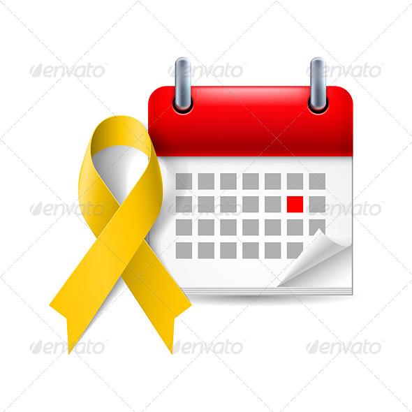 GraphicRiver Awareness Ribbon and Calendar 7987691
