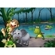Animals Playing in a Forest Near a Pond - GraphicRiver Item for Sale