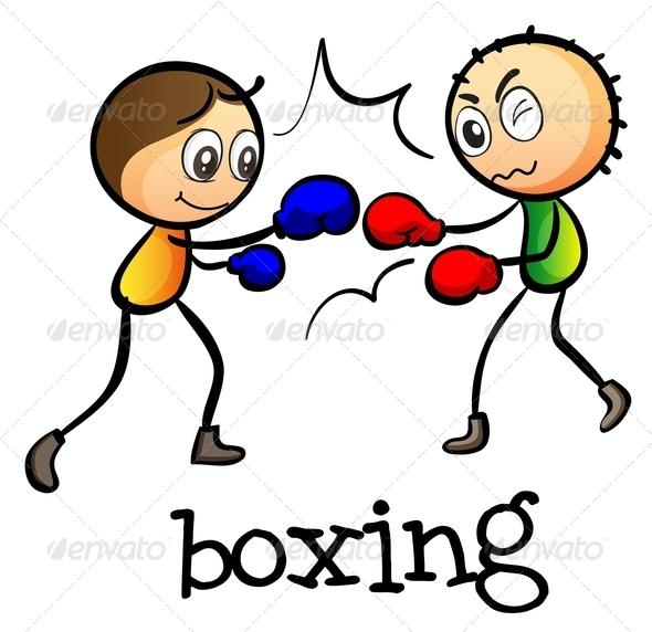 GraphicRiver Two Stickmen Boxing 7987781