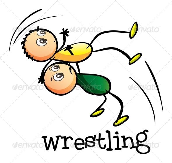 GraphicRiver Two Men Wrestling 7987824