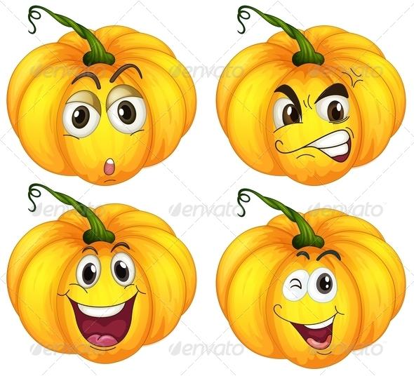 GraphicRiver Four Pumpkins 7987839