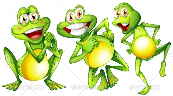 GraphicRiver Three Smiling Frogs 7987899