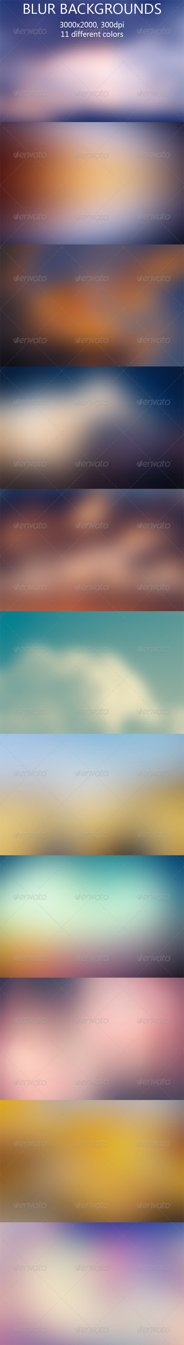 GraphicRiver Blur Backgrounds 7987935
