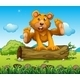 Bear Playing with a Trunk Outdoor - GraphicRiver Item for Sale