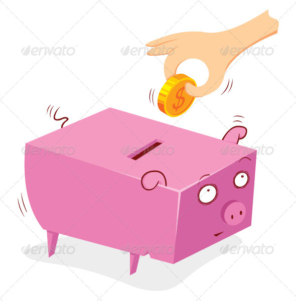 GraphicRiver Pig Bank 7988053