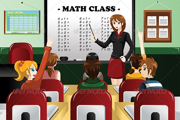 GraphicRiver Kids Studying Math 7988055
