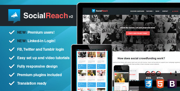 Social Reach The Crowd-Speaking WordPress Theme