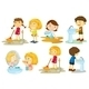 Kids Engaging in Different Activities - GraphicRiver Item for Sale