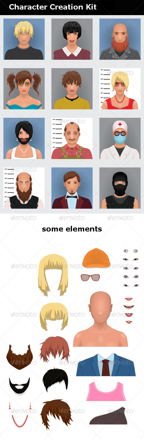 GraphicRiver Character Creation Kit 7976247
