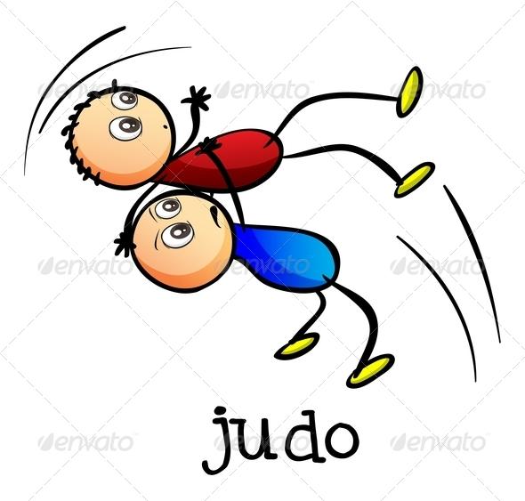 GraphicRiver Stickmen Doing Judo 7988071