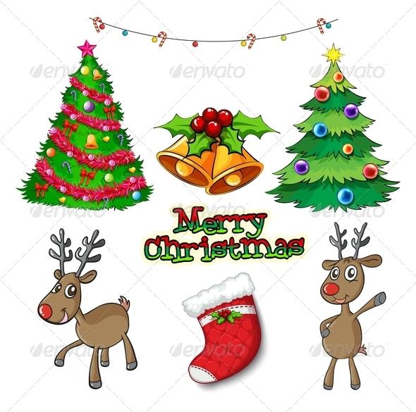 GraphicRiver Set of Christmas Decors 7988077