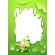A Border with a Poisoned Green Monster - GraphicRiver Item for Sale