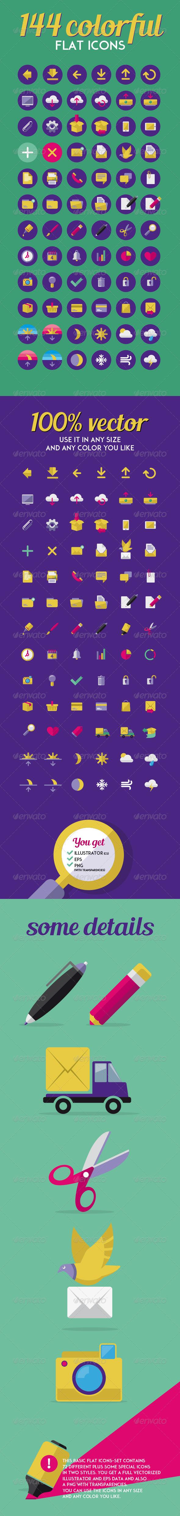 GraphicRiver Flat Basic Icon Set 7982052