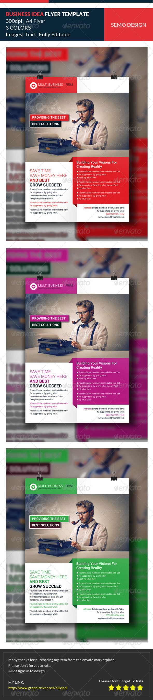 GraphicRiver Corporate Business Idea Flyer Template 7988140